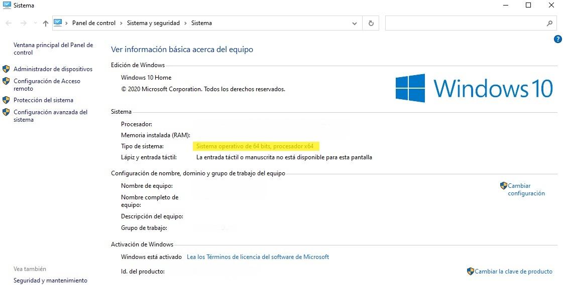 informacion sistema operativo windows